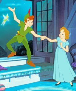 Peterpan And Princess paint by numbers