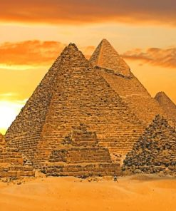 Pyramids Desert paint by numbers