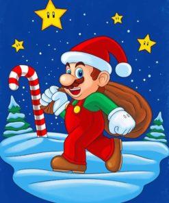 Santa Mario paint by numbers