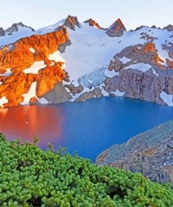 Alpine Lake paint by numbers