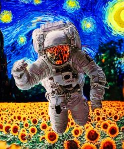 Astronaut In Starry Night Paint By Numbers