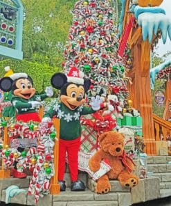 Christmas Day With Mickey Mouse paint By Numbers