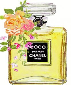 Coco Chanel Perfume paint by numbers