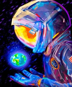 Illustration Astronaut paint by numbers