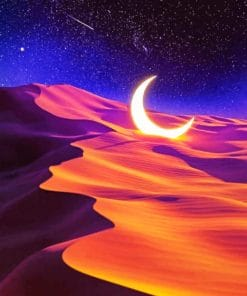 Crescent Moon Desert paint by numbers