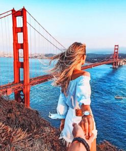 Follow Me To Golden Gate Bridge paint by numbers