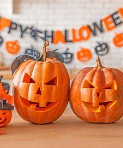 Pumpkins Halloween paint by numbers