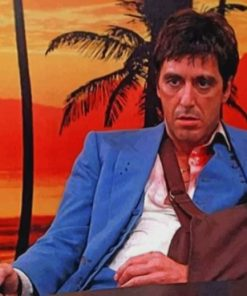 Al Pacino Scarface paint by numbers