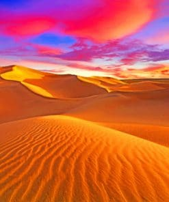 Sunset Desert paint By Numbers