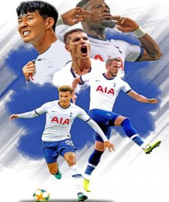 Tottenham Hotspur Poster paint by numbers