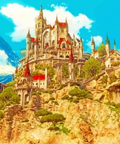 Witcher Castle paint by numbers