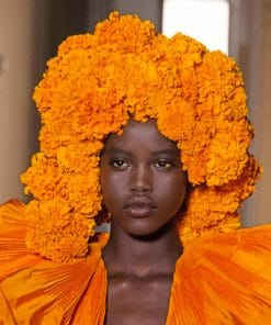 African Model paint by numbers