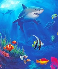 Big Great Shark paint by numbers
