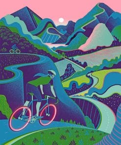 Bike Rider Illustration paint by numbers