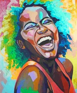 Black Women Laughing paint by numbers