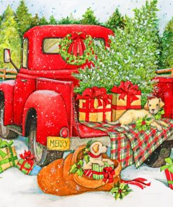 Christmas Truck paint by numbers