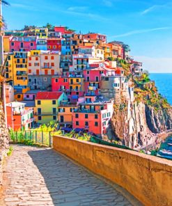 Cinque Terre National Park paint By Numbers