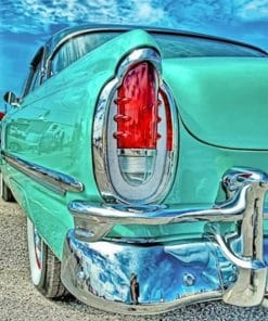 Green Classic Car paint By numbers