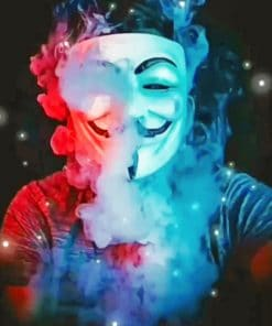 Hacker Mask paint By Numbers