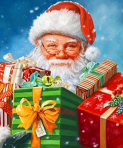 Santa Claus With Gifts paint by numbers