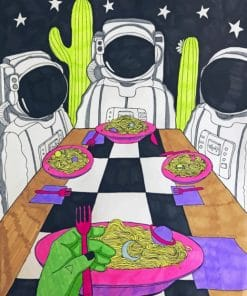 Alien Space Art paint By Numbers Numbers