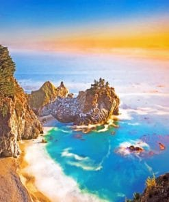 Big Sur California Sunset paint by numbers