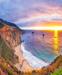 Big Sur California paint by numbers