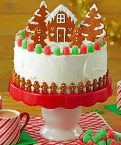 Christmas Cake paint By Number