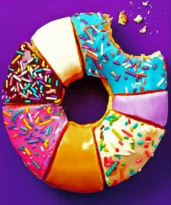 Colorful Donut paint by Numbers