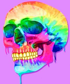 Creepy Skull paint By Numbers
