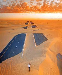 Dubai Desert paint By Numbers
