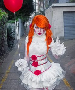 Female Diy Pennywise Costume paint By Numbers