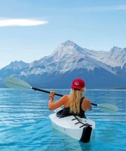 Kayaking Mountains paint by numbers