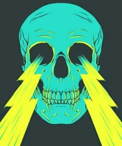 Lighting Skull paint By numbers