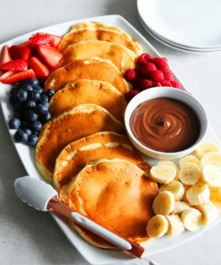 Pancake And Fruits paint By Numbers