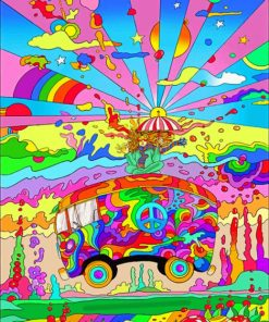 Psychedelic Pop Art paint By Numbers