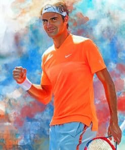 Roger Federer Art paint by numbers