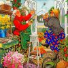 Planters-Old-Women-paint-by-numbers