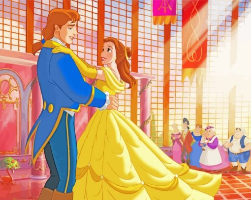 Belle Dances With The Prince paint by numbers