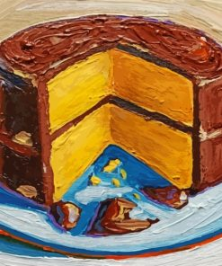 Chocolate Cake Art paint by numbers