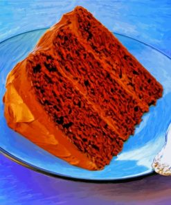 Piece Of Chocolate Cake paint by numbers