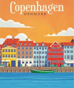 Denmark Copenhagen Poster paint by numbers