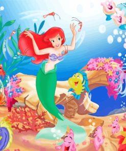 Disney The Little Mermaid paint by numbers