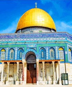 Aesthetic Dome Of The Rock paint by numbers