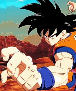 Dragon Ball Z paint by numbers