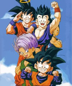 Dragon Ball Z Characters paint by numbers