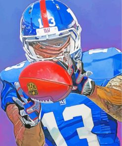 FNL Football Player paint by numbers