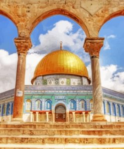 Palestine Al Aqsa Mosque paint by numbers
