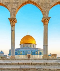 Dome Of The Rock Palestine paint by numbers