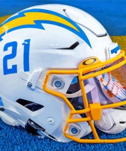 La Chargers Helmet paint by numbers